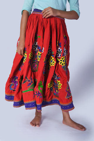 Banjara Embroidered Skirt from Kutch - EARTHICA