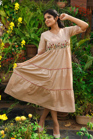 Handspun handwoven khadi dress