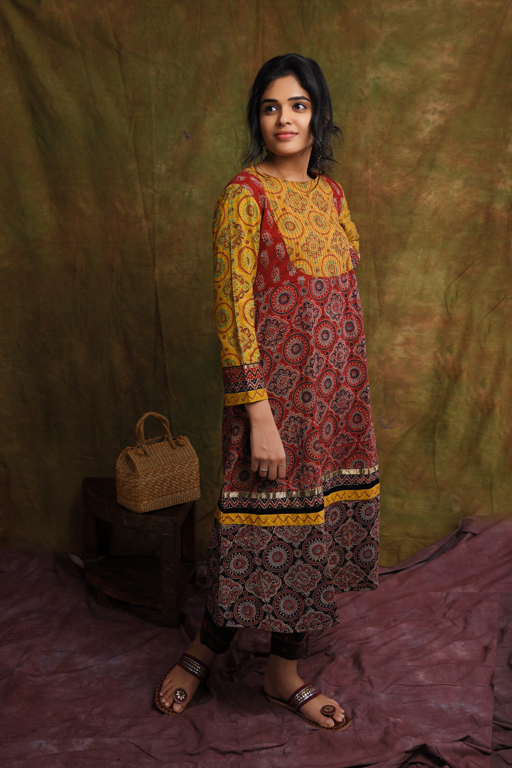 Ajrakh - Nartural Dye Kurta/Dress