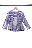 Ikat Pure Cotton Handwoven  Peplum Jacket.