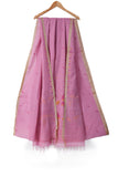 Baby pink jamdani cotton saree - EARTHICA