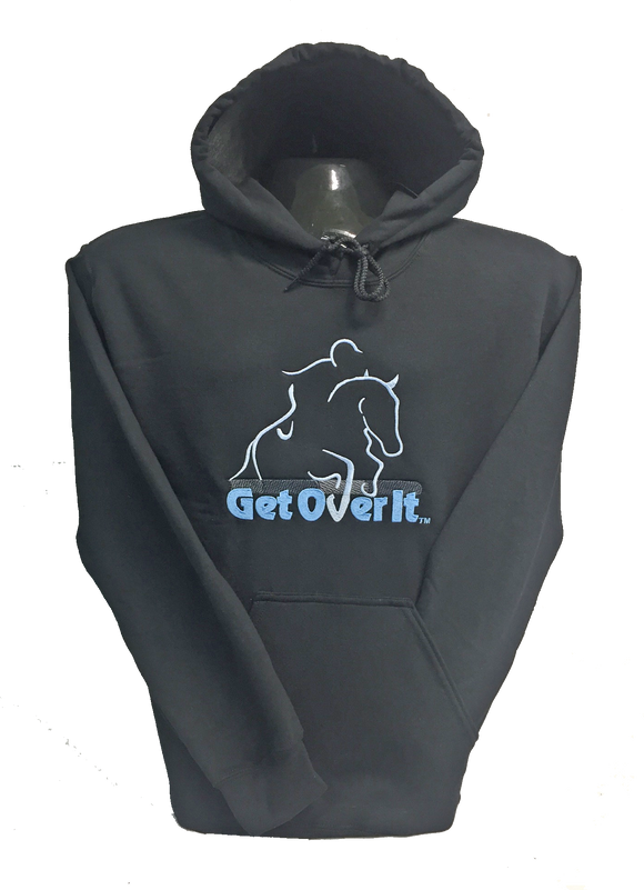 Get Over It - Black Pullover Hoodies