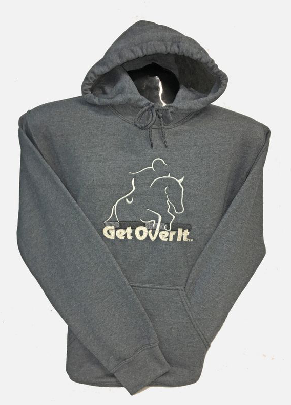 Get Over It - Grey Pullover Hoodies