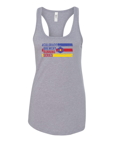 3 Stripe - Women's Tank Top - Heather Grey