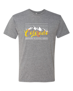 Colorado Mountain Stripe T-Shirt - Premium Heather