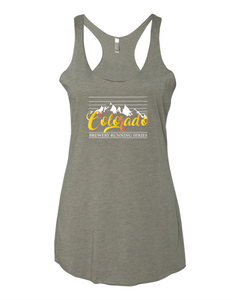 Colorado Mountain Stripe - Women's Tank Top - Venetian Grey