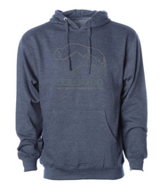 Load image into Gallery viewer, Colorado Brewery Running Series Bison - Hoodie - Classic Navy Heather