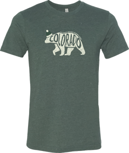 Colorado Polar Bear - Unisex T-shirt - Heather Forest