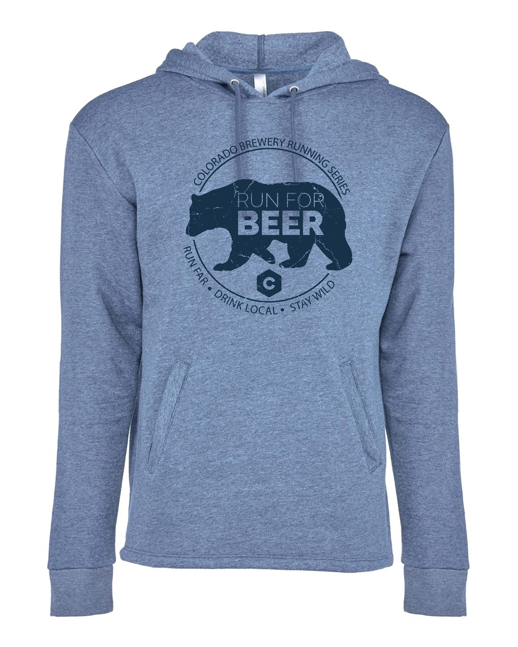 Run For... Bear - Hoodie - Unisex - Heather Bay Blue