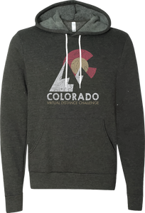 Mountain Silhouette - Virtual Distance Challenge Hoodie - Dark Grey Heather