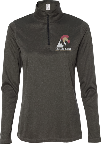Women's 1/4 Zip Long Sleeve - CO Virtual Distance Challenge - Dark Grey Heather