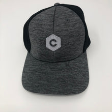 Load image into Gallery viewer, 'C' Hexagon - Shadow Tech Marled Mesh-Back Cap - Graphite/Black