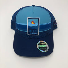 Load image into Gallery viewer, Run Colorado Patch - BOCO Technical Trucker Hat - Light Blue/Dark Blue