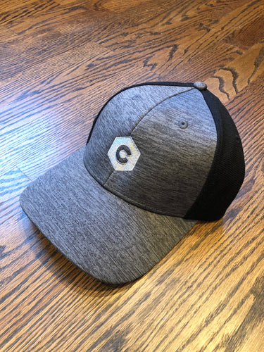 'C' Hexagon - Shadow Tech Marled Mesh-Back Cap - Graphite/Black