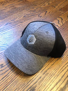 Hop Hexagon - Shadow Tech Marled Mesh-Back Cap - Graphite/Black