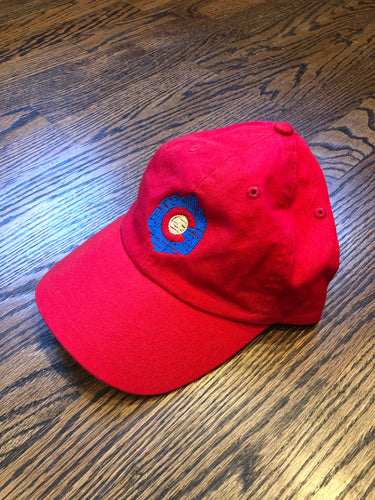 Mountain Hexagon - Dad Hat - Red