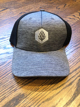 Load image into Gallery viewer, Hop Hexagon - Shadow Tech Marled Mesh-Back Cap - Graphite/Black