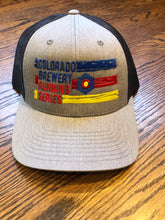 Load image into Gallery viewer, 3 Stripe - Trucker Hat - Heather Grey/Dark Charcoal