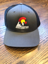 Load image into Gallery viewer, Mountain Silhouette - Trucker Hat - Charcoal/Black