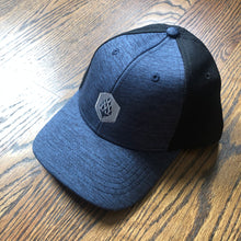 Load image into Gallery viewer, Hop Hexagon - Shadow Tech Marled Mesh-Back Cap - Navy/Black