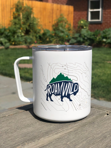 Roam Wild Insulated 12oz Camp Cup/Mug (MiiR) -- White