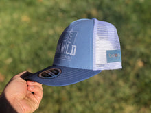 Load image into Gallery viewer, Roam Wild Colorado - BOCO Technical Trucker Hat - Light Blue/Dark Blue