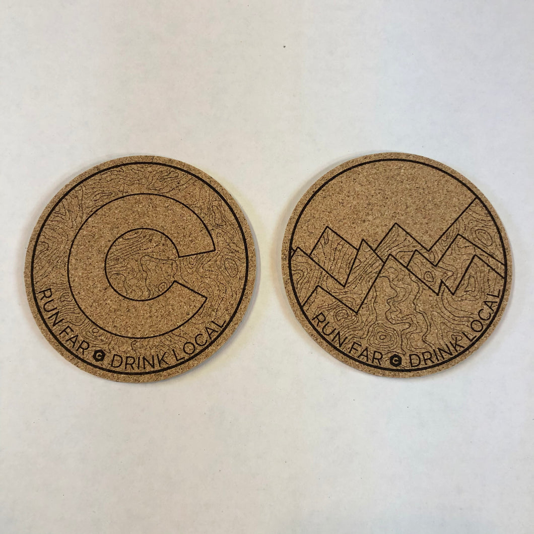 Run Far Drink Local - Coaster Set