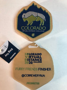 "Colorado Bison Dog Chew Toy - 7"" Plush"