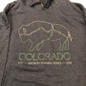Colorado Brewery Running Series Bison - Hoodie - Classic Navy Heather