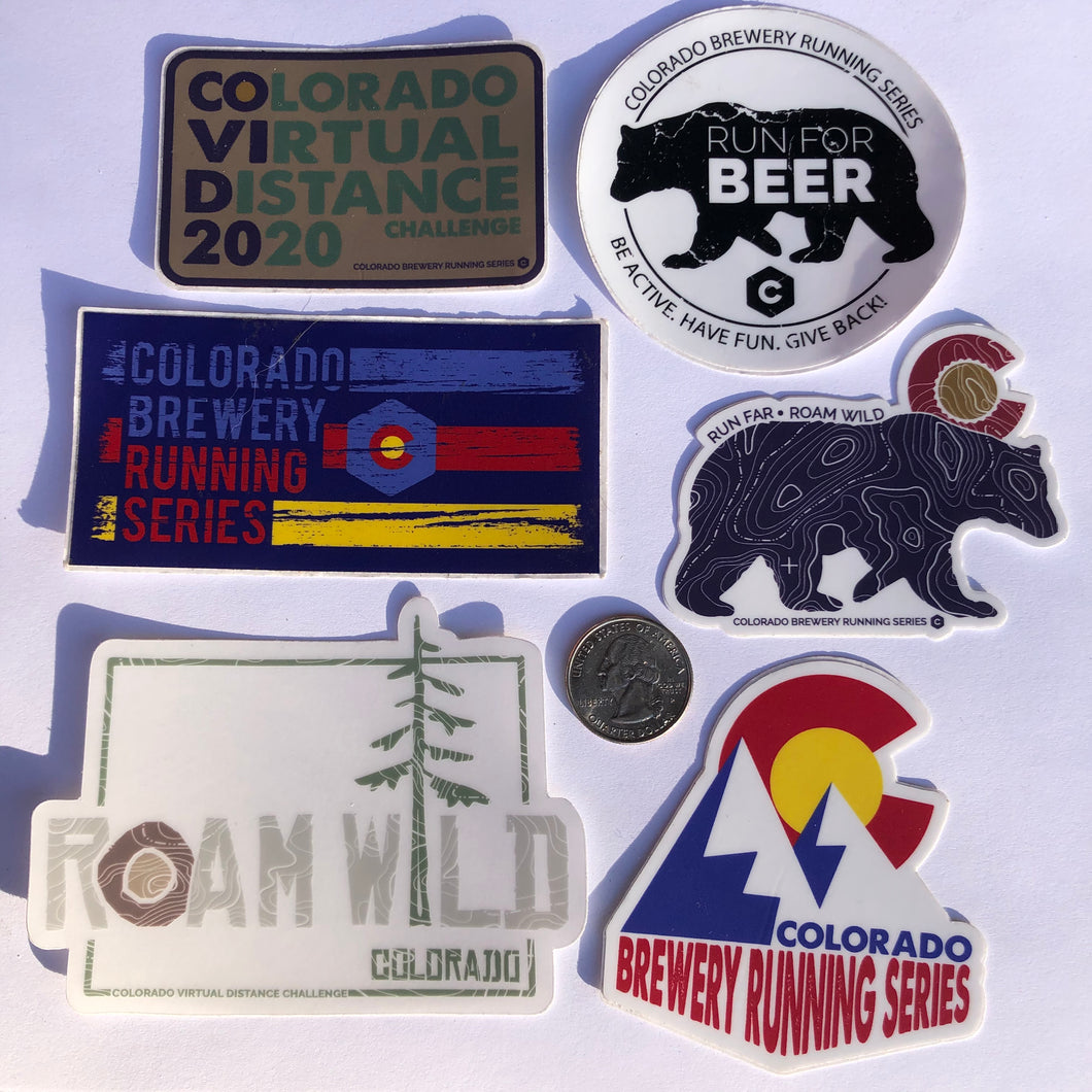 Colorado Brewery Running Series Sticker Pack #2