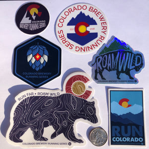 Colorado Brewery Running Series Sticker Pack #3