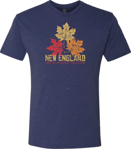New England Virtual Distance Challenge - Tshirt - Heather Navy