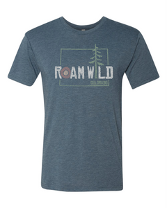 Roam Wild Tree Colorado - Unisex T-Shirt - Heathered Indigo