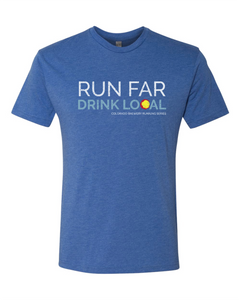 Run Far Drink Local CO - Vintage Royal
