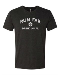 Run Far Drink Local - Vintage Black