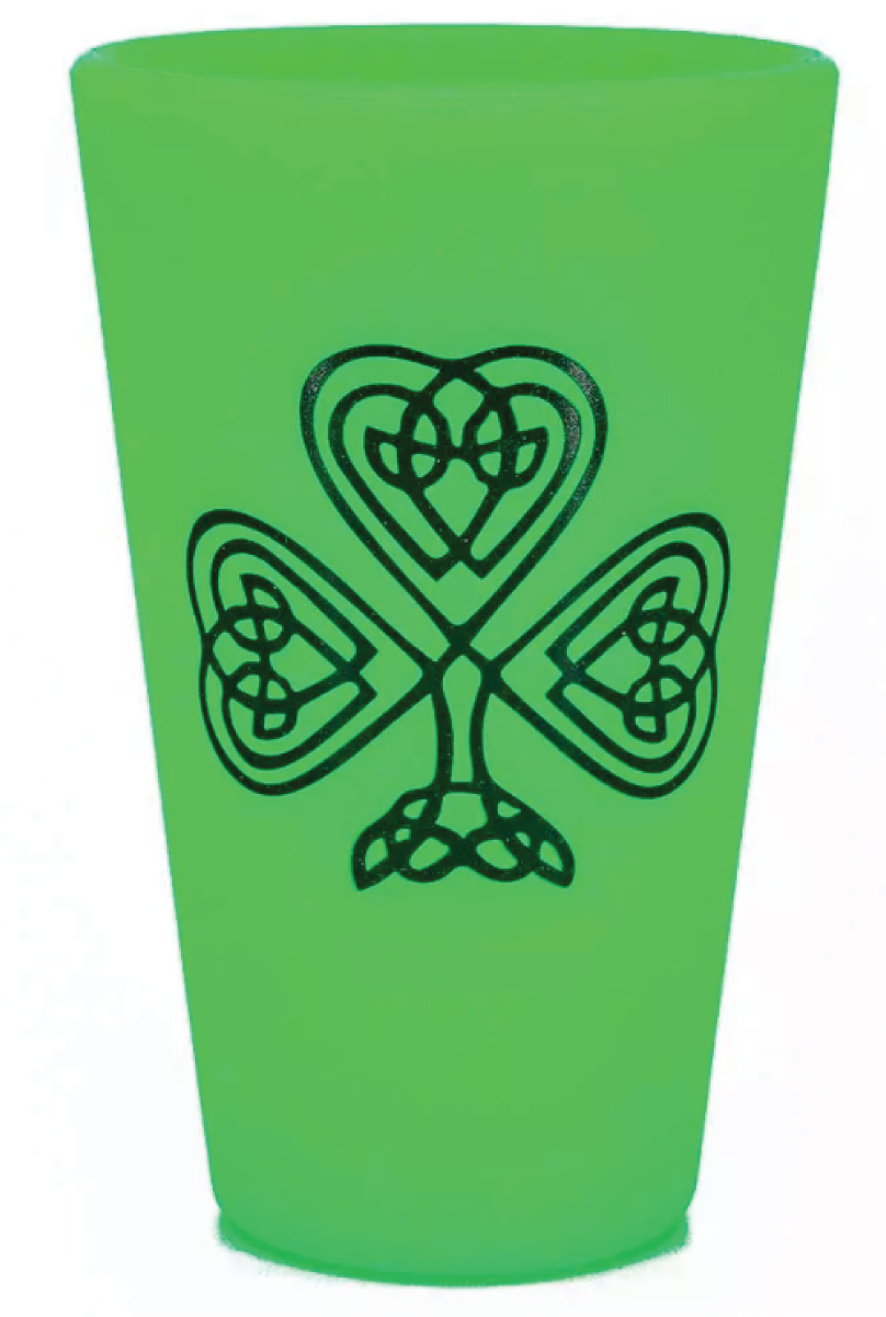 Shamrock the Block Silipint - Glow in the Dark Green