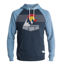 Load image into Gallery viewer, VersaTek Mountain Silhouette - Lightweight Hoodie - Unisex - Blue