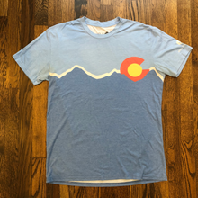 Load image into Gallery viewer, VersaTek CO Mountains Tech Blend T-Shirt