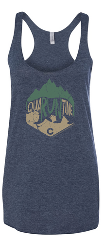 quaRUNtine Mountain Bear - Women's Tank Top - Vintage Navy