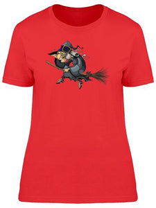 Cartoon Witch On a broom T-Shirts