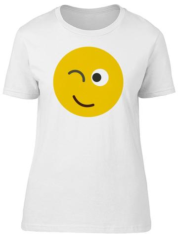 Smiley Emoji Winking Women's T-SHIRTS