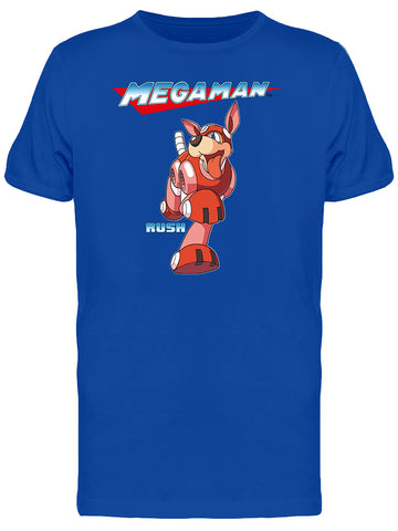 Capcom Mega Man Rush The Dog Graphic Men's T-shirt