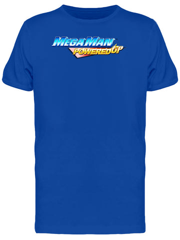 Mega Man Powered Up Videogame Logo Men's T-shirt
