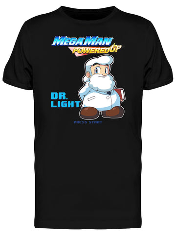 Mega Man Powered Up Dr. Light Videogame Graphic Men's T-shirt