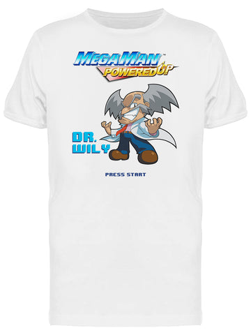 Mega Man Powered Up Dr. Wily Videogame Graphic Men's T-shirt