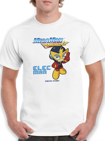 Mega Man Powered Up Elec Man Videogame Graphic Men's T-shirt