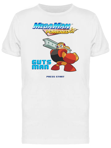Mega Man Powered Up Guts Man Videogame Graphic Men's T-shirt