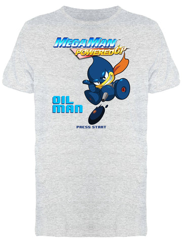 Mega Man Powered Up Oil Man Videogame Graphic Men's T-shirt