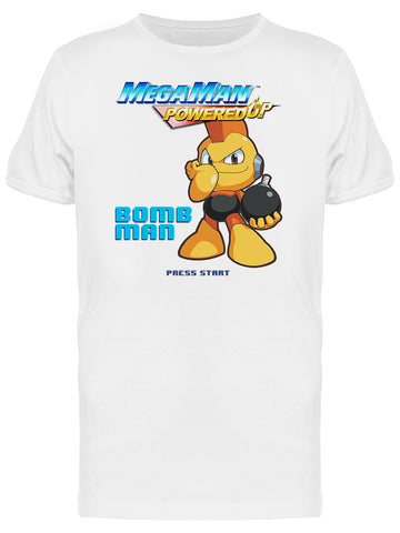 Mega Man Powered Up Bomb Man Videogame Graphic Men's T-shirt