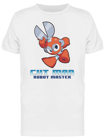 Mega Man Cut Man Robot Master Videogame Graphic Men's T-shirt